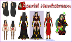 Character Reference Sheet - Asariel by KityMewNeko