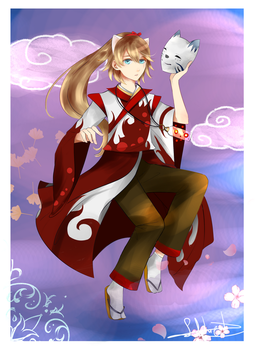 Taiki Bloodred (Art Trade) by Selphie-T