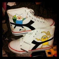 Adventure Time Shoes by CannibalCupcakes