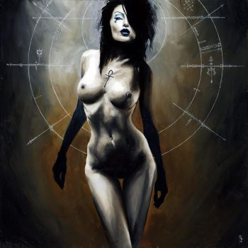 commissioned nude death painting by menton3