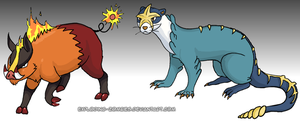 Isshu Starters Evolution WIP by Exploding-Zombies