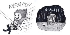 Attack On Titan: Expectation V.S. Reality by Teaaddict007