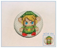 Link cross stitch badge by restlesswillow