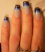 Blue Morpho Butterfly Nails by RoxieAngel