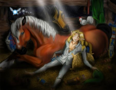 Asleep in the Barn + story by LilleahWest