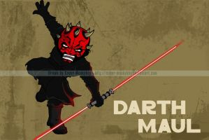 SW Chibis - Darth Maul by happymonkeyshoes