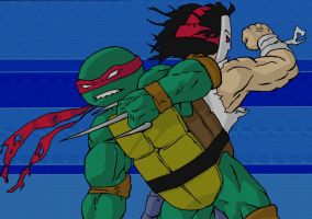 Raph and Casey by dalmation10k