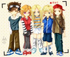 Chibi Comish - Group photo by aiki-ame