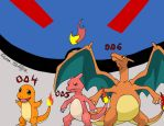 Charmander Evolutions (W/color) by RCKNP