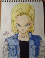 Android 18 by LadyAlvarez