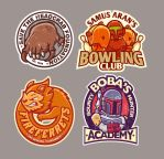 Gaming stickers 2 by cronobreaker