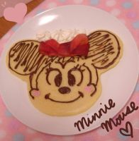 minnie mouse pancake by minicuteclub