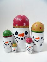 Snowmen Russian Dolls 2 by ponychops