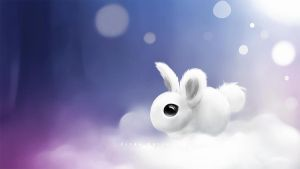 Snow Bunny by dampStamp