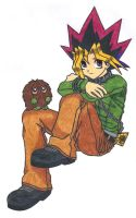 Yugi Relaxing for a Change by Heza-chan
