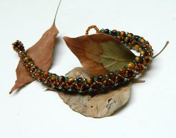 Forest Goddess wonderful bracelet with tiger eye by YANKA-arts-n-crafts