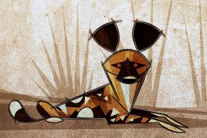Painted Dog by Skia