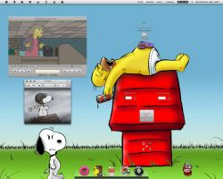 THE SIMPSONS vs Snoopy by NetoBettini