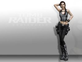 Lara Croft: Model Pose by Halli-well