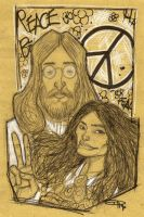John and Yoko by DenisM79
