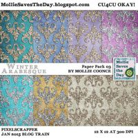 Winter Arabesque Paper Pack 3 by Mollie-Coonce