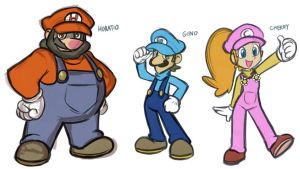 Feb2012SM-More Mario Brothers by AndrewDickman