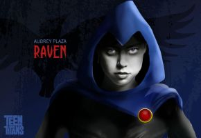 Aubrey Plaza as Raven by MacAddict17