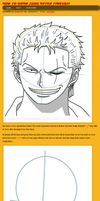 How to draw Zoro after Timeskip by HowToDrawManga3D