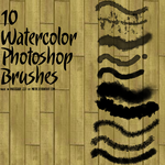 10 Watercolor Photoshop Brushes by Miktik