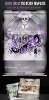 Disco Ghost Halloween Party Flyer Template by ImperialFlyers