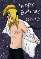 5.5 Happy Birthday Deidara by ValiChan