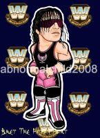 bret the hitman hart color by abnormalchild