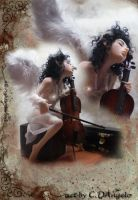 Heavenly Cellist B by cdlitestudio