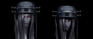 Jenova's head render two versions by lezisell