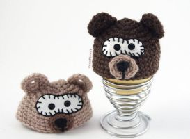 Bear Egg Cover by coco-flower