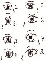 Female eyes by MegamiMizuL