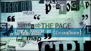 Lyrical Ransom Brush Set by liminalstate