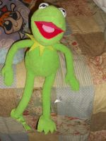 Kermit the frog plushie by YuiHarunaShinozaki