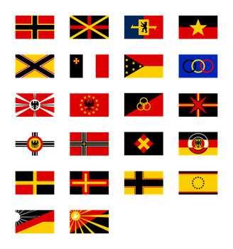 German Flag Proposals 1948 by Kristo1594