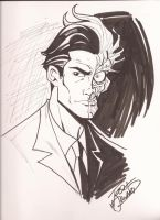 Two-face Sketch by Josh Howard by greenman45