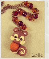 Clay Flurry Squirrel by LolleBijoux