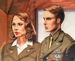 Agent Carter and Captain Rogers by Greenpuffle