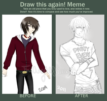 Draw this again meme by TheAngelOfMemories