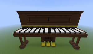 Minecraft Piano by CHL99