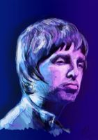 Noel Gallagher digital painting by j0epep