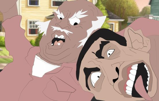 Uncle Ruckus Beatdown by RdaVinci36