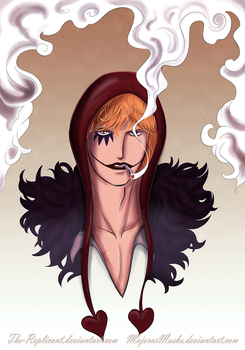 Corazon (One Piece fanart) | COLLABORATION by MajorasMasks