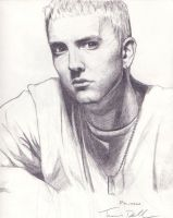 Eminem - pencil by RavensHaelo
