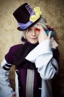 Xerxes Break - Mad Hatter cosplay by Gellariot
