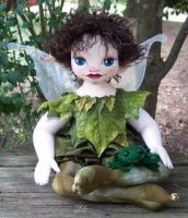 Elijah A Faerie Child and frog by paulaspixies